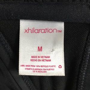 Xhilaration Swim - Black Bikini Top Size Medium Strappy Swimwear